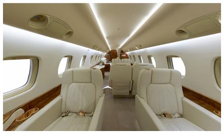 Visite virtuelle 360° - Avion de luxe